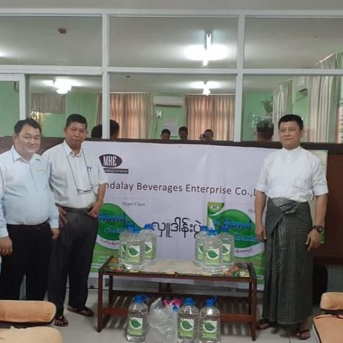 Donation of C.Hand Sanitizer to Mandalay and Yangon